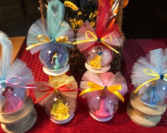 Disney Princesses Mini Globe Ornament (Cinderella, Sleeping Beauty,Ariel,Jasmine, Belle and Snow White)