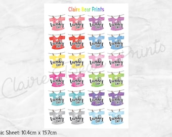 LAUNDRY & CLEANING DAY Planner Stickers (2 options)