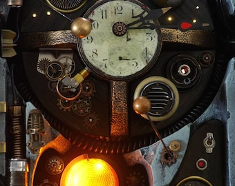 Working Handmade Steampunk Clock