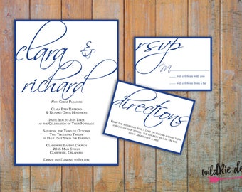 Scripted Wedding Invitation Kit