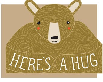 Bear Hug gestanzte Karte