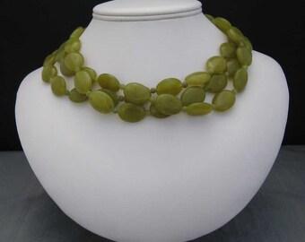 Serpentine Three Strand Necklace