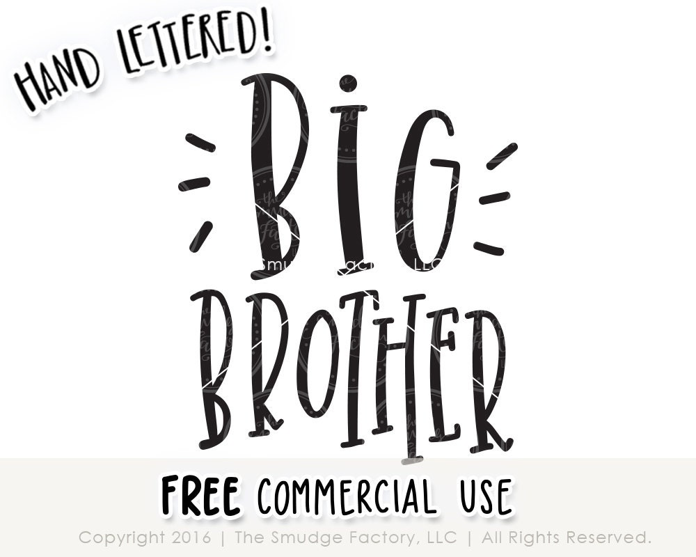 Big Brother Svg Cut File Promoted To Big Brother Cutting