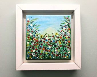 Mini Meadow flowers painting wall art