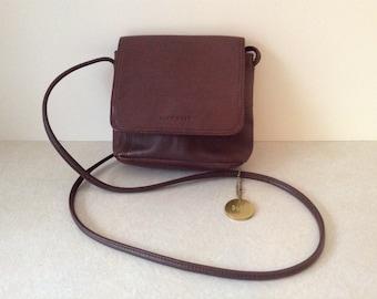 Nine West Genuine Brown Leather Crossbody Shoulder Bag