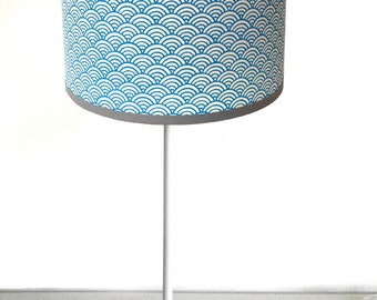 SMALL LAMPSHADE PATTERN JAPANESE BLUE GRAPHIC