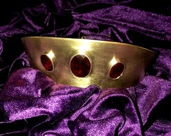 Brass Gem Tiara, Greek Crown, princess tiara, wedding crown, wedding tiara, goddess crown, bridal crown, headband, cosplay