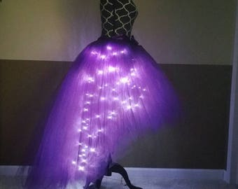 HI-LO LED tutu/ Plum adult party tutu