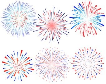Fireworks, Firework, 4th of July, Patriotic, Fourth of July, July 4th, Silhouette, SVG, Graphics, Illustration,Vector,Logo,Digital,Clipart