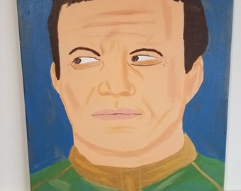 16x20 William Shatner Captain James T Kirk painting