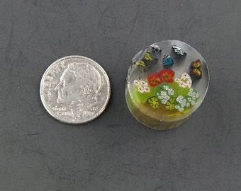 Le jardin des papillons par Greg Chase Murrine Boro canne 11 grammes - 125 J
