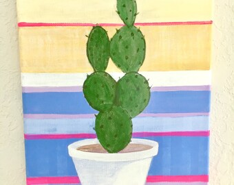 PRICKLY ORIGINAL ACRYLIC on canvas painting