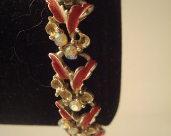 Vintage Longcraft multi leaf bracelet