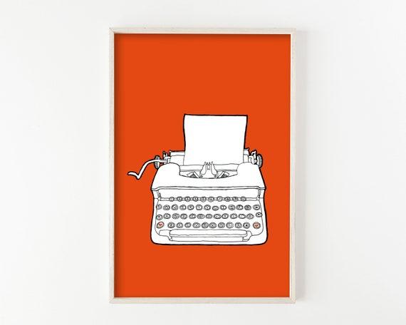 """""""Typewriter No. 7"""" - wall art print"""