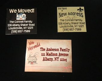 New Home Magnets - Realtors, Great Gift for your Clients! We Moved!