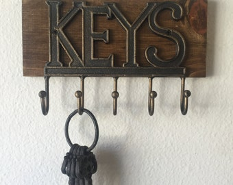 Wall Key Holder, Rustic Key Holder, Key Holder, Wall Key Rack, Key Rack, Key Holder Wall, Rustic Wall Key Holder for Wall