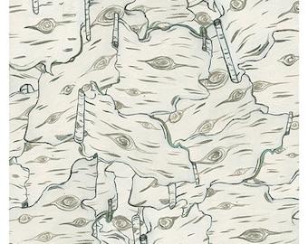 "Birch Study 8x10"" print"