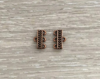 4 End Bars, Copper Ox End Bars, 3 Strand, 2 Strand End Bars, Clasps