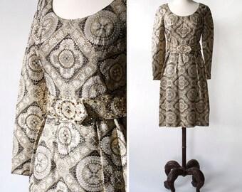 vintage Adele Simpson dress <> late 1960s/early 1970s Adele Simpson metallic dress <> Never worn, original tags attached Adele Simpson dress