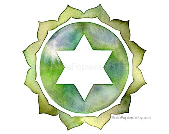 Heart Chakra, Meditation Gifts, Namaste Gifts, Anahata Chakra Wall Art, Yoga Wall Art, Chakra Wall Decor, Chakras, Anahata, Solar Plexus