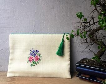 """Boho cross stitch hand bag """"roses"""""""