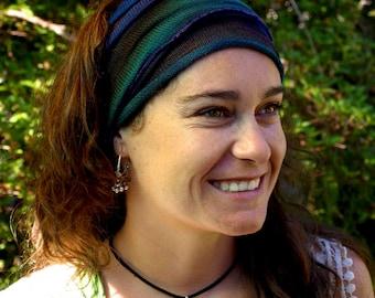 Forest Tie Dyed Headwrap Headband Hair & Dreadband Head Wrap Cotton Dreadwrap