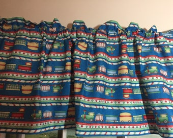 Holiday Train Valance ~ 42 Inches Wide