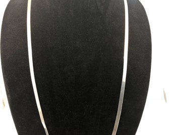 "Stunning 36"" Milor Italy 925 Sterling Silver  Herringbone Chain"