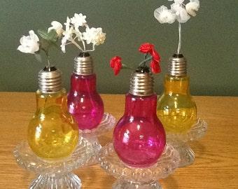 Light bulb, 1 stem flower vase