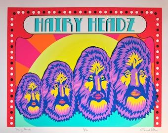 Hairy Heads LTD Edition Giclee Print
