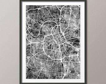 Nashville Map, Nashville Tennessee City Map, Art Print (2988)