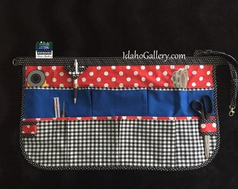 Pinny Half Apron Cotton Craft Apron For Women Work Apron Half Apron Minnie Mickey Mouse Inspired Polka Dot Check Red Black Blue Free Ship