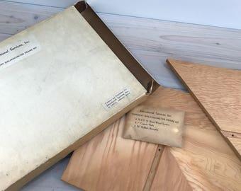 Vintage Galvanometer Tangent Wood