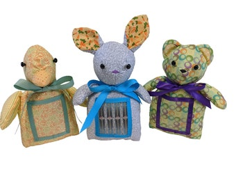 Baby/Children's Stuffed Animal Picture Frames - 100% cotton fabric panel