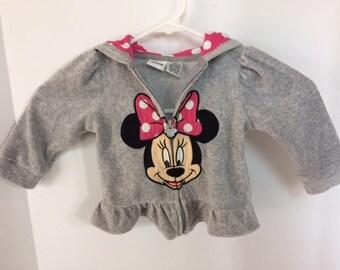 Minnie mouse hoodie size 12mths vintage minnie mouse disney hoodie