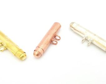 Beads Stash Compartment Box Pendant Charm in Gold Silver Copper Color