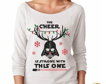 Darth Vader Christmas Shirt - Magical Glitter Shirt - Christmas Glitter Shirt