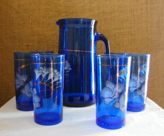 Vintage Cobalt Glass