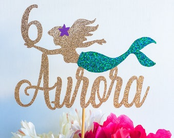 Mermaid cake topper | Ariel cake topper | The little mermaid cake topper | Under the sea cake topper | Mermaid party | Age cake topper