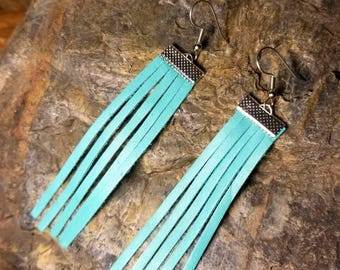 Turquoise Fringe Earrings
