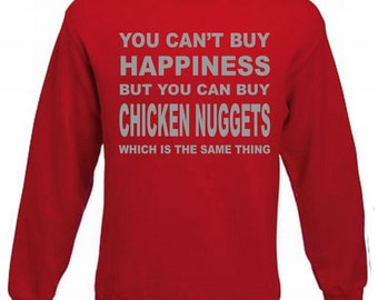 Happiness Chicken Nuggets Funny Fast Food Sweatshirt, Love Nugget Jumper Sweater