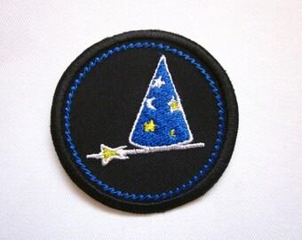 "Magic Merit Badge Black 2"" Iron or Sew On Patch"