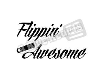Flippin Awesome SVG dxf Studio, Cutting Board SVG dxf Studio, Cooking svg dxf studio, kitchen svg dxf studio