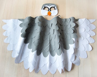 Puffin Costume for Kids, Children's Bird Wings and Mask Dress up Toy for Girls and Boys, Toddlers