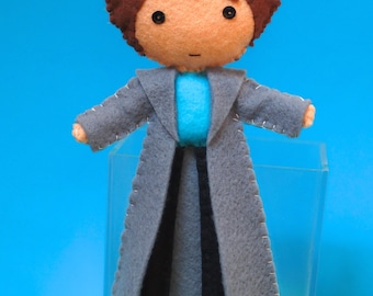 Doctor Who Torchwood Inspired Bendable Felt Figure - Captain Jack Harkness