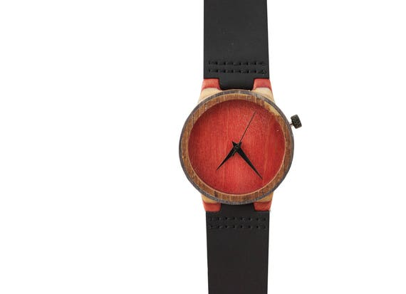 7PLIS watch #085 Recycled SKATEBOARD #madeinfrance black brown red purple