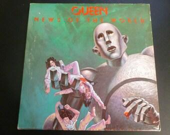 Queen News Of The World Vinyl Record LP 6E-112 Electra Records 1976