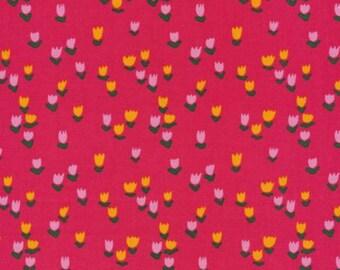 Tulip Patch Pink - Gather - Juliet Meeks  - 101501 Cloud 9 Fabrics 100% Organic Cotton