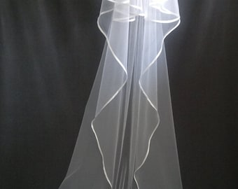 Cathedral Veil, Two Layers, White