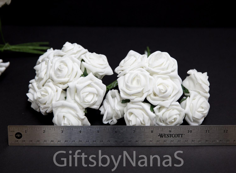White foam roses bulk white roses real touch flowers white silk 2999 izmirmasajfo